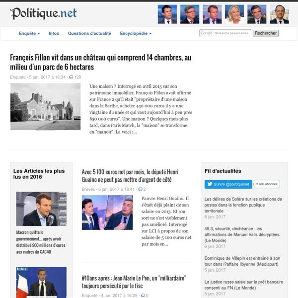 Politique.net, l'actualité politique
