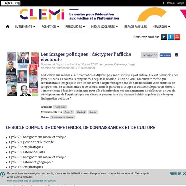 Les images politiques : décrypter l'affiche électorale- CLEMI