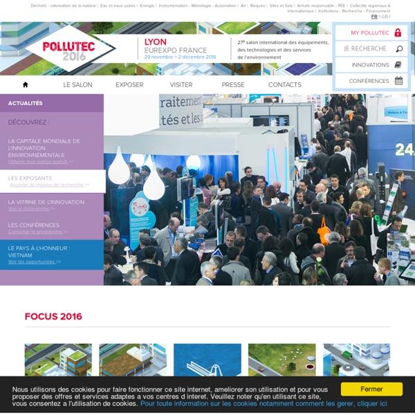 Salon Pollutec : Environnement, Déchets, Eau, Energie - 29/11-02/12/16