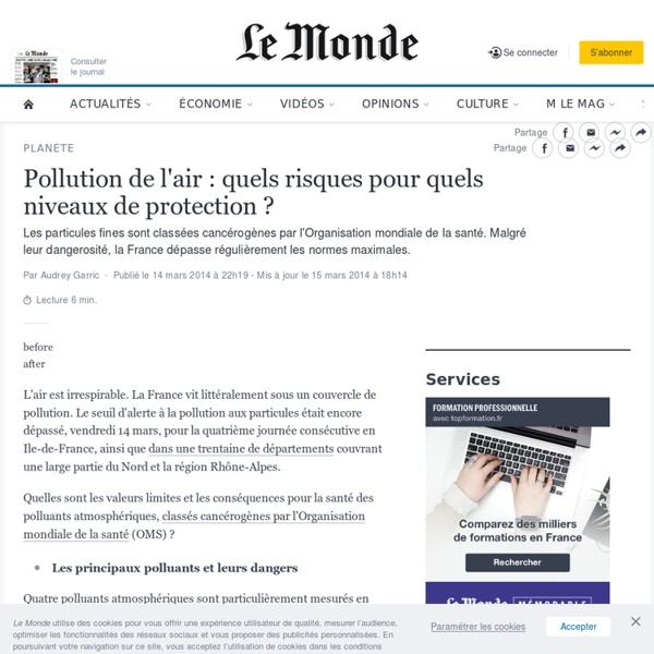 Pollution de l'air : quels sont les risques pour la santé ?
