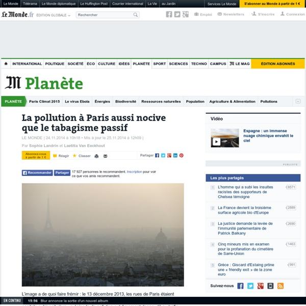 A Paris, la pollution aussi nocive que le tabagisme passif