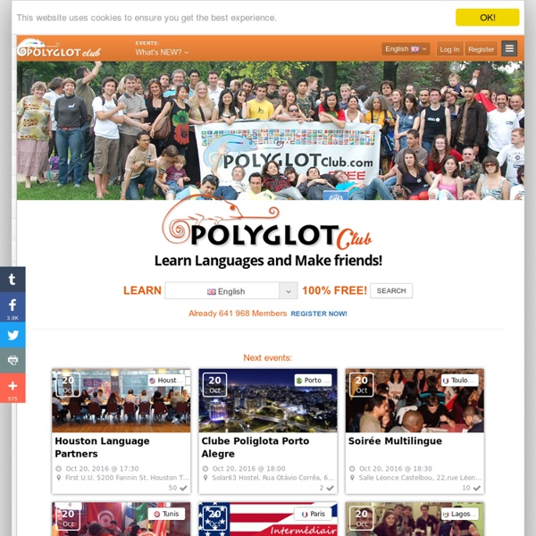Polyglot Club Official Website - Find a friend to exchange languages!