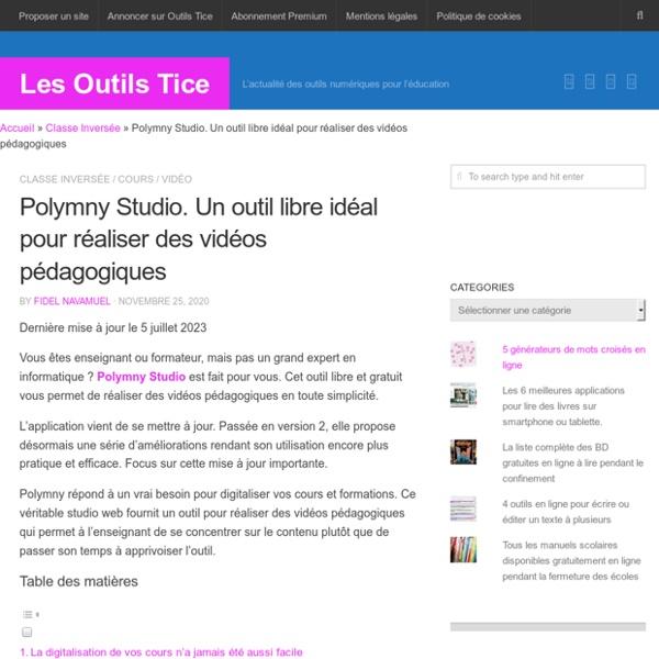 Polymny Studio. Un outil libre pour réaliser des vidéos pédagogiques