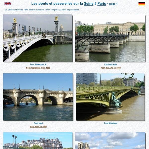 Les ponts de Paris : Histoire et photos