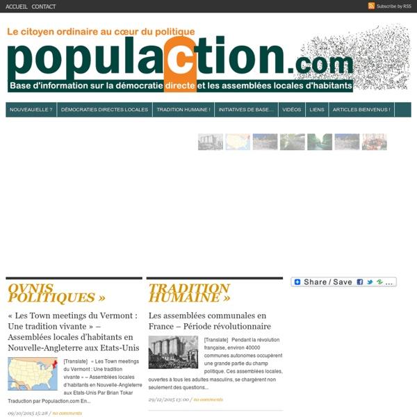 POPULACTION — Les expériences de démocraties directes locales, en France et dans le monde !