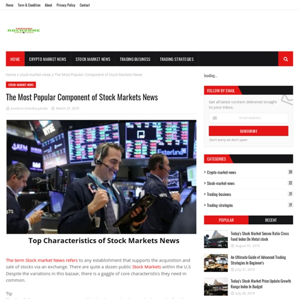 The Most Popular Component of Stock Markets News