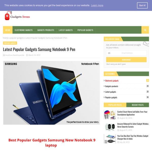 Latest Popular Gadgets Samsung Notebook 9 Pen