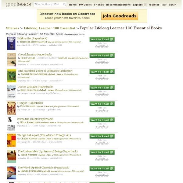Lifelong Learner: 100 Essential Books