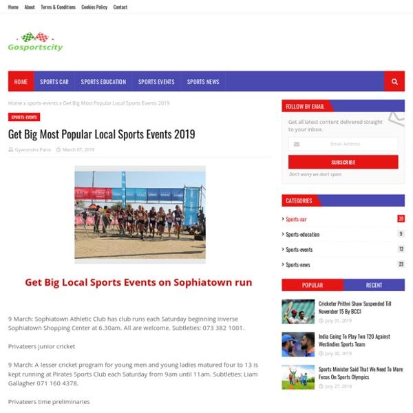 Get Big Most Popular Local Sports Events 2019