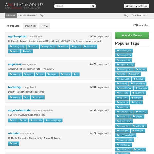 Popular Modules - AngularJS Modules, Plugins and Directives