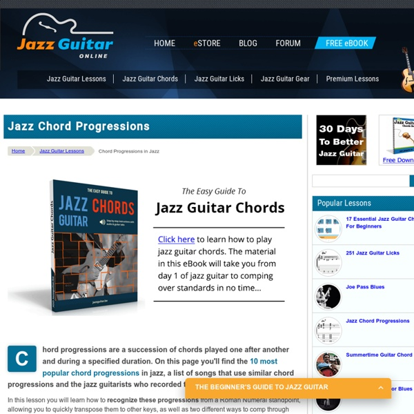 Music Theory Lesson: The Most Popular Jazz Chord Progressions