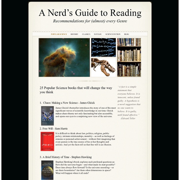 Popular Science - A Nerd's Guide to Reading