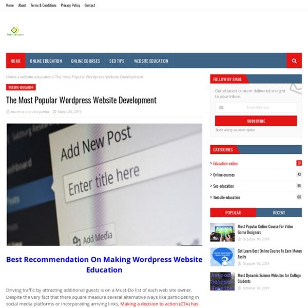 The Most Popular Wordpress Website Development