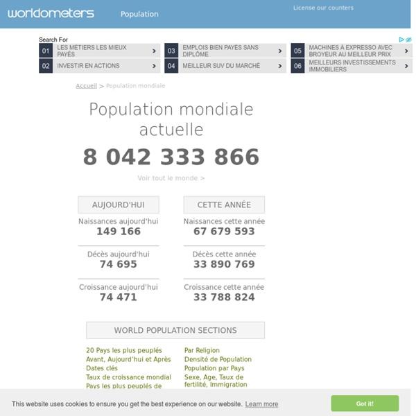 Population Mondiale (2017) - Worldometers