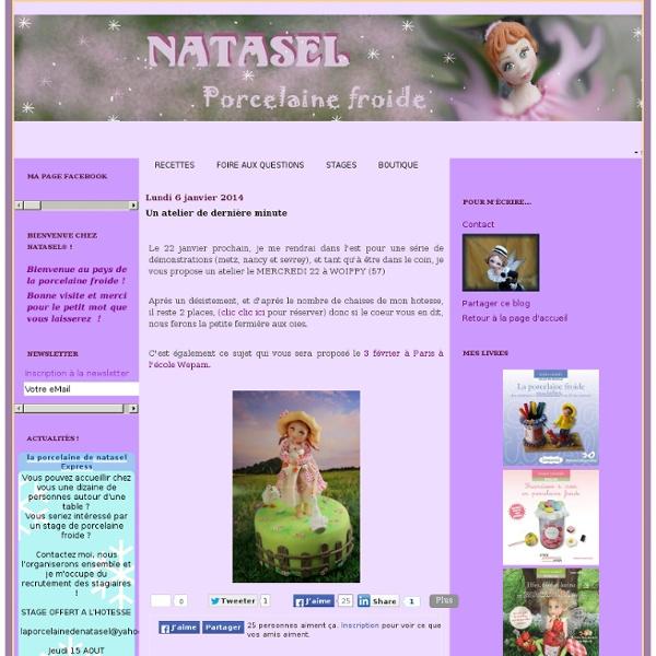 La porcelaine à modeler de Natasel