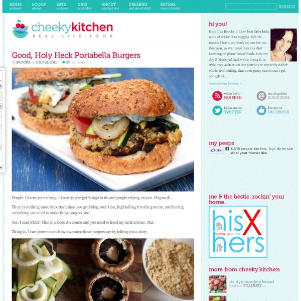 Cheeky Kitchen » Good, Holy Heck Portabella Burgers