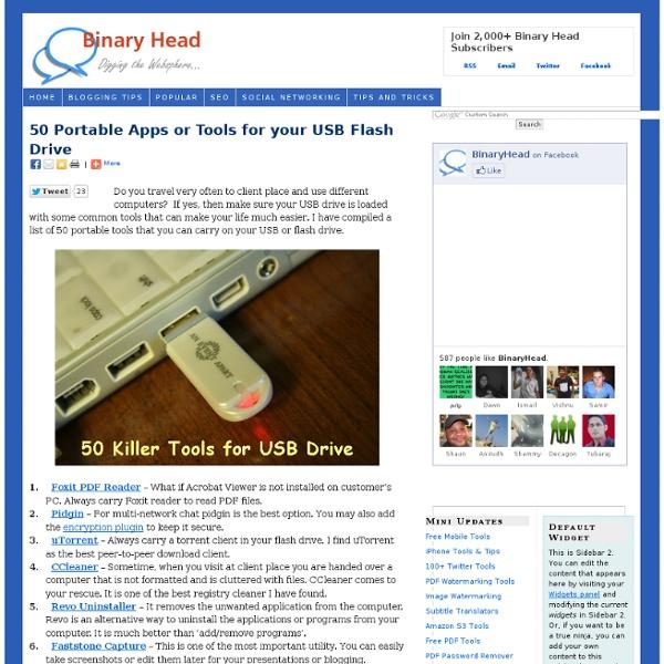 50 Best Portable Apps (Windows/Mac/Linux)