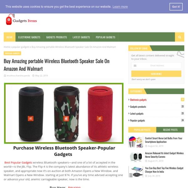 Buy Amazing portable Wireless Bluetooth Speaker Sale On Amazon And Walmart