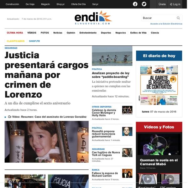 El nuevo d a noticias de puerto rico informaci n de for Noticias de espectaculos de ultima hora