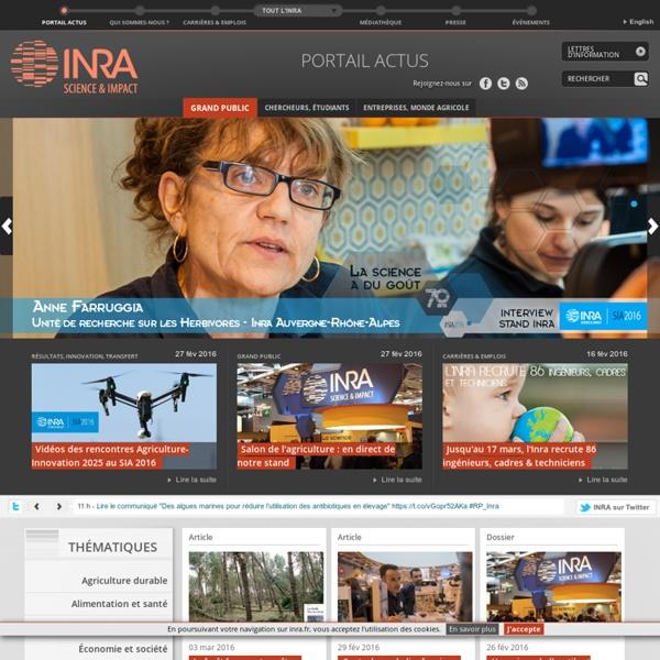 Inra - Portail d'actus grand public