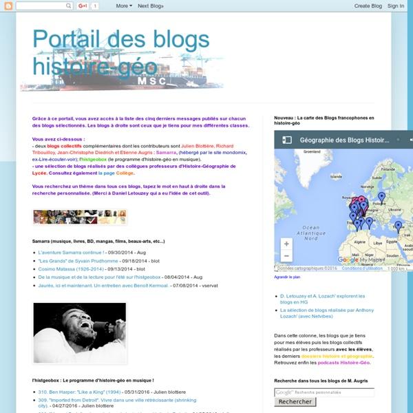 Portail des blogs histoire-géo