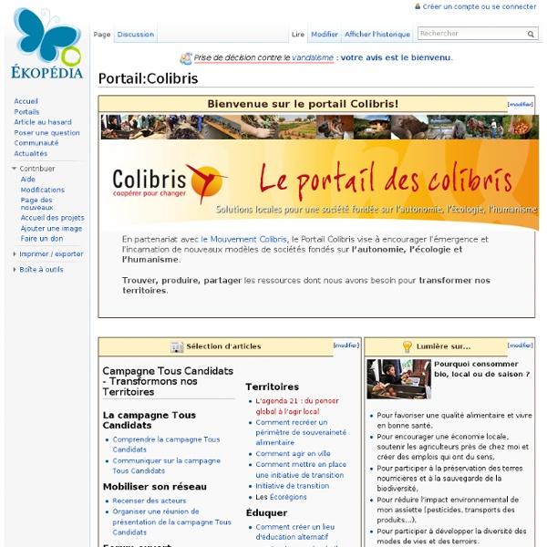 Portail:Colibris