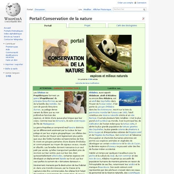 Portail:Conservation de la nature