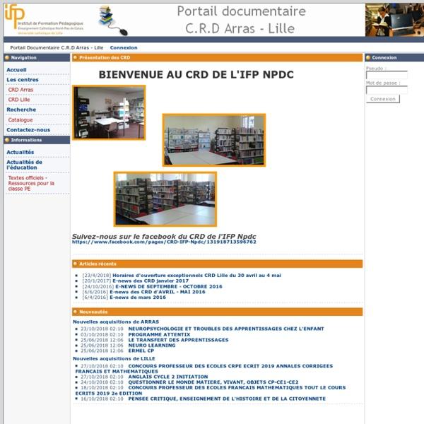 Portail Documentaire C.R.D Arras - Lille -