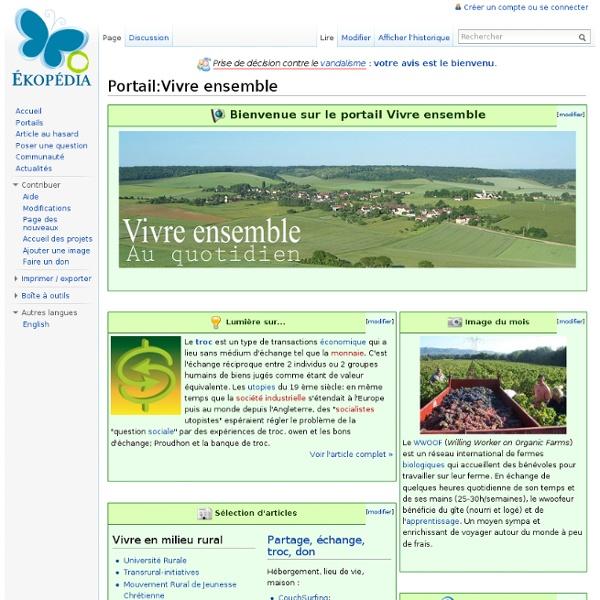 PORTAIL Ekopédia VIVRE-ENSEMBLE