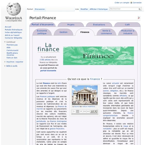Portail:Finance