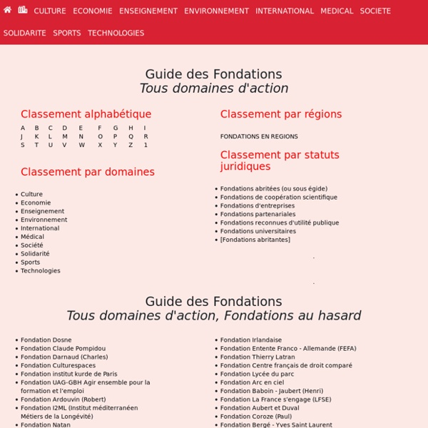 Portail des Fondations françaises