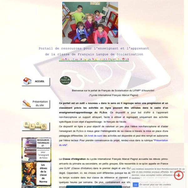 Portail de Français Langue de Scolarisation (FLSco) du LIFMP