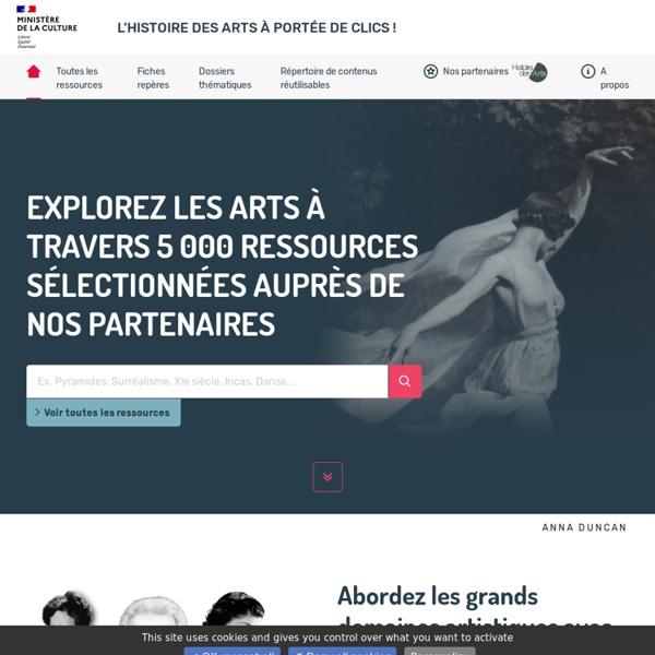 Portail Histoire des arts Ministère de la Culture