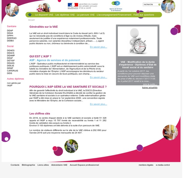 info sanitaire et social