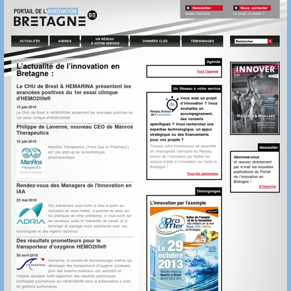 Portail de l'innovation en Bretagne