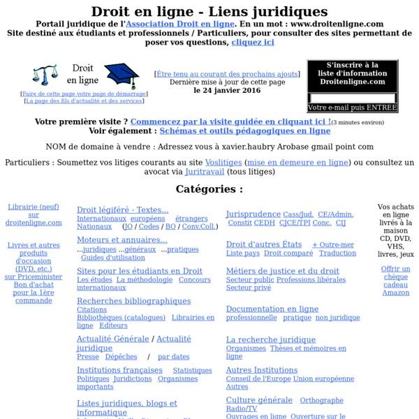 PORTAIL juridique de l'Association Droit en ligne