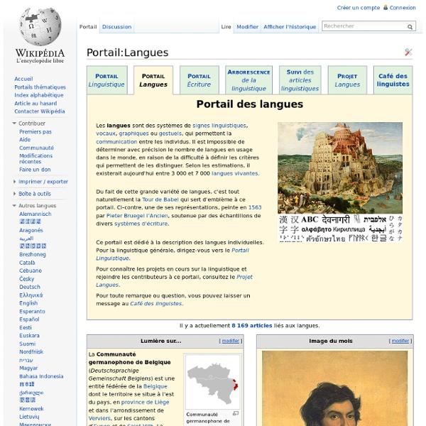 Portail:Langues