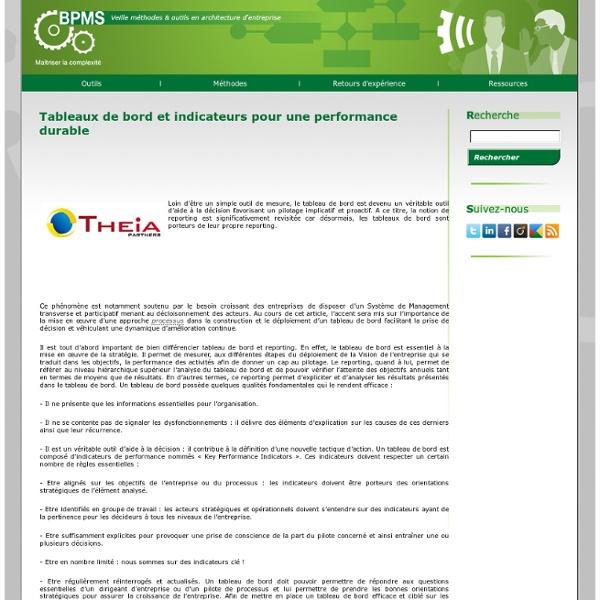 Tableaux de bord et indicateurs pour une performance durable » BPMS.info