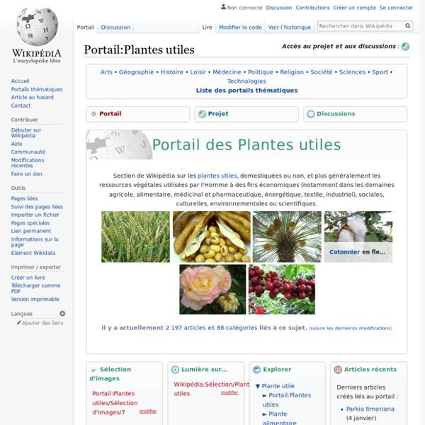Portail:Plantes utiles