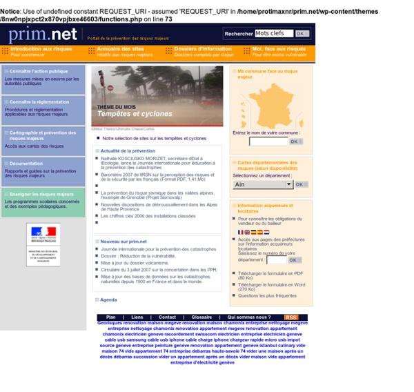 Prim.net : Portail de la prévention des Risques Majeurs