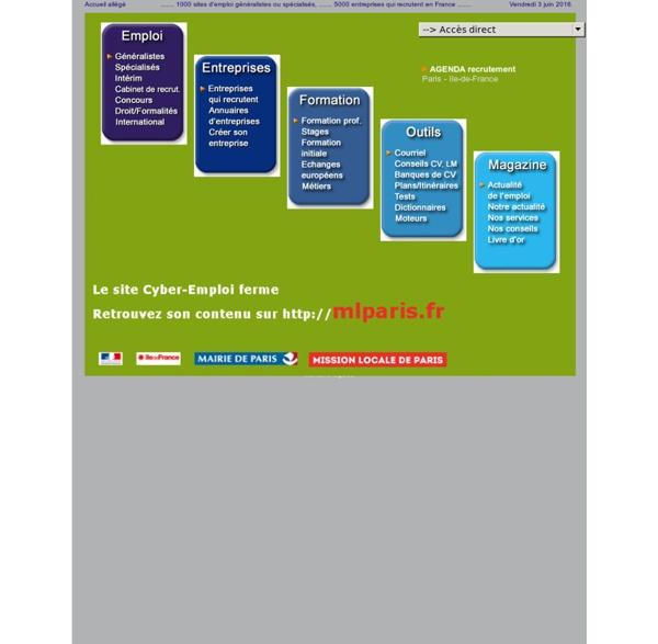 CYBER EMPLOI CENTRE Portail pour la recherche d'emploi, offres d'emploi. Locaux situés à Paris (75)