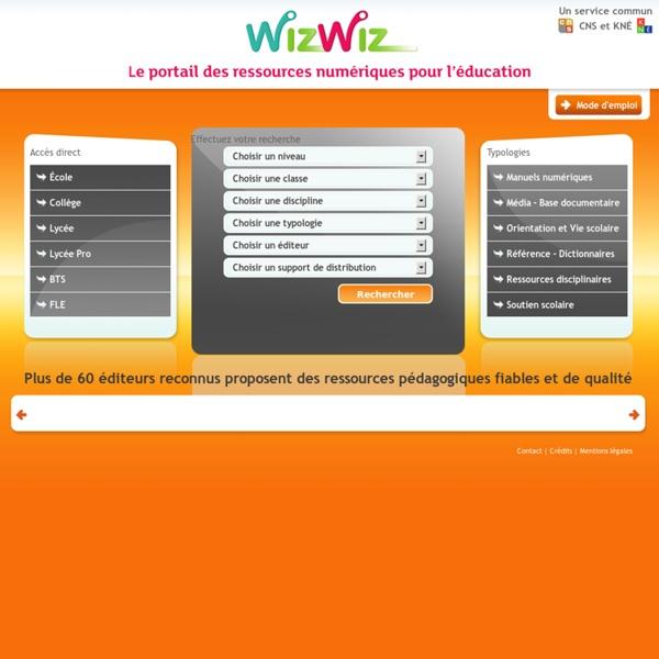 WizWiz, le portail des ressources pour l'éducation