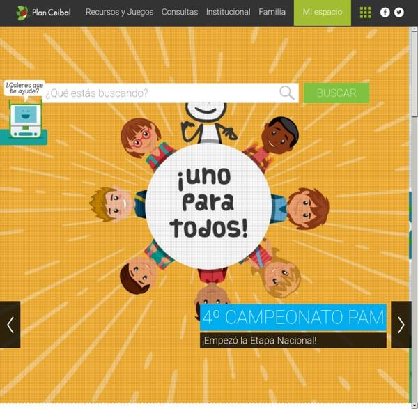 Portal Ceibal - Escritorio de inicio