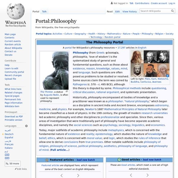 Portal:Philosophy