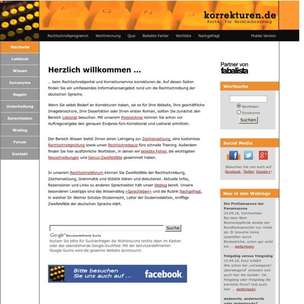 Portal für Rechtschreibung