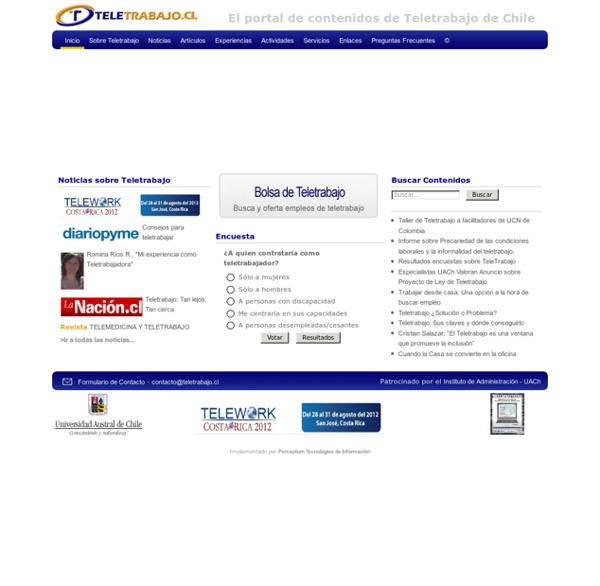 El portal de Teletrabajo de Chile - Inicio | Pearltrees