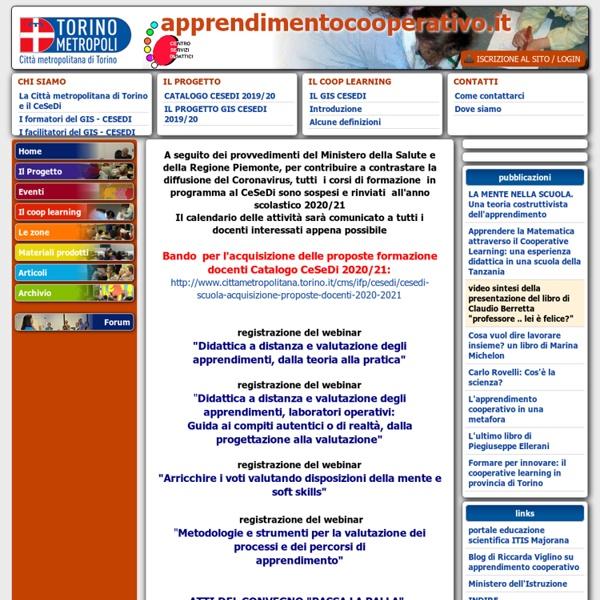 Www.apprendimentocooperativo.it - Il portale dei docenti - comunità di pratica e di apprendimento