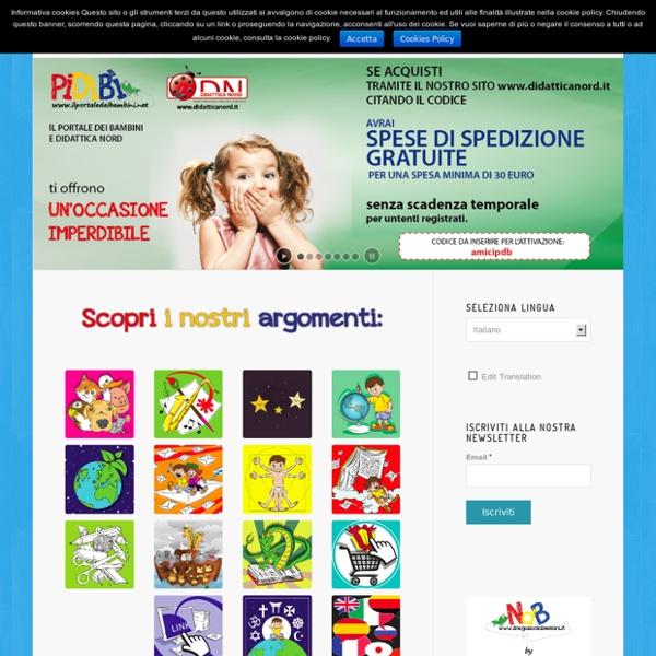 Il portale didattico e divertente dei bambini