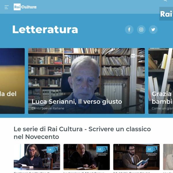 Il portale sulla letteratura di Rai Cultura