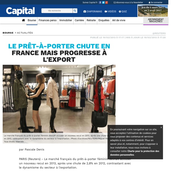 Le prêt-à-porter chute en France mais progresse à l'export